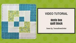 Video tutorial: Bento box quilt block - beginner's block - YouTube &  Adamdwight.com