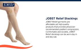Jobst Hose Size Chart Jobst Relief Thigh High Open Toe Compression Stockings Unisex Extra Firm Legware With Silicone Band For Easy Donning Compression Class 15 20