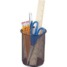 Staples Metal Mesh Giant Pencil Cup