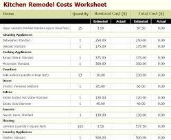 Kitchen Remodel Estimator Remodel Budget Template Home Renovation