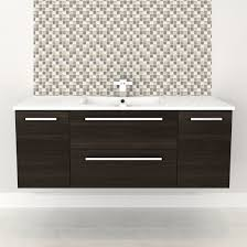 cutler kitchen bath silhouette 48 in wall hung vanity with top view larger