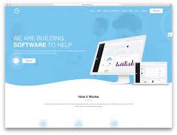 Website Site Design Software 37 Best Software Company Website Templates 2019 Colorlib