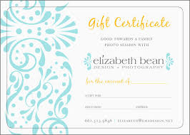 Photoshoot Gift Certificate Template Beautiful Photography T