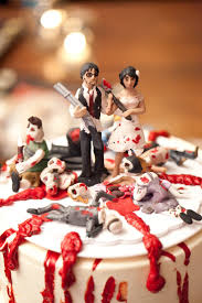 Zombie Apocalypse Wedding Cake Toppers