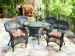 black wicker dining chairs. Black Wicker Dining Set Chairs D