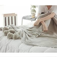 100 X150 Stricken Decke Niedliche Pom Pom Sofa Werfen Schlafzimmer