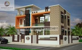 exterior front elevation design house map building design