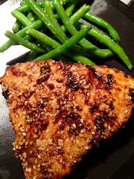 asian sesame grilled tuna steak this was so delicious we couldn t believe it was tuna such a simple recipe and even people who don t like fish would