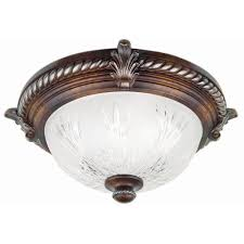 bercello estates 15 in 2 light volterra bronze flushmount with etched glass shade