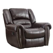 com bonzy oversized recliner leather cover living room lounge chair brown kitchen dining