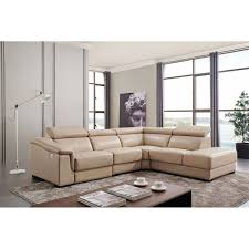 760 leather sectional with electric recliner