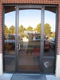 beautiful herculite glass door herculite door maglock a typical electro magic lock installed