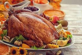 thanksgiving turkey dinner table. Fine Dinner Stock Photo  Thanksgiving Turkey Dinner On White Wooden Table With Copy  Space To Dinner Table L