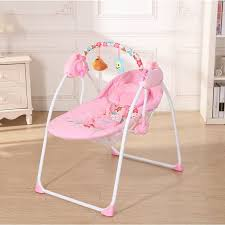 electric baby cradle swing rocking connect mobile play chair sleeping basket bed crib for newborn loading zoom