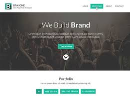 Free Website Template Fascinating Single Page Website Template PSD Freebiesbug