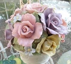 making a faux italian chandelier with porcelain flowers