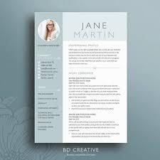 Free Creative Resume Templates Microsoft Word Mesmerizing Creative Resume Template 48 Clean Professional Modern CV Etsy