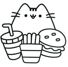 Pusheen Coloring Pages Pretty Cute Page