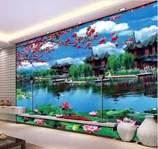 3d room wallpaper custom mural non woven wall sticker garden scenery background wall painting photo
