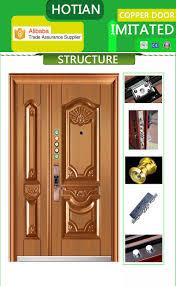 Brilliant Front Door Double Modern Exterior Door Double Pure Copper ...