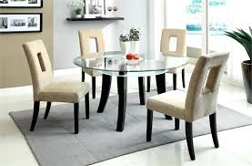 glass top kitchen table and chairs enchanting round glass kitchen table round glass dining table for