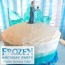 disney frozen birthday cake with ombre frosting this beautiful frozen themed chocolate cake with ombre