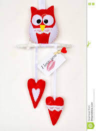 I Love You Crafts Owl Toy Two Hearts Felt Crafts Card With The Words I Love You