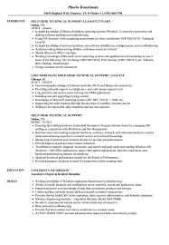 Help Desk Technical Support Resume Sample Technician