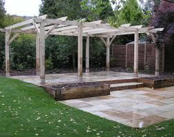 ... Patio & Pergola:Corner Pergola Kits Unfinished Wooden Patio Pergolas  Design Ideas Combine Garden Container ...