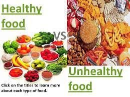 junk food vs healthy food.  Food Healthy Food VS Unhealthy On Junk Food Vs