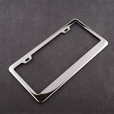 Car Chrome Plate Stainless Steel Silver License Frames Screw Caps