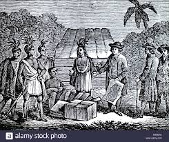 Engraving Depicting William Penn Treating With Indians