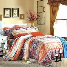 bedding sets orange bohemian duvet set bohemian queen quilt set orange blue and purple bohemian chic
