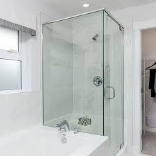 modernize your bathroom with a frameless glass shower enclosure and tempered glass shower walls grout