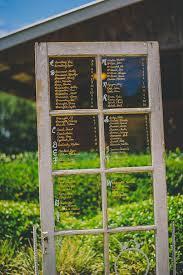 Rustic Window Pane Glass Door Wedding Seating Chart Marry