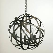 metal orb chandelier large