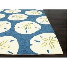 beach house rugs indoor living indoor outdoor area rug sand dollar navy and white within coastal