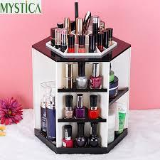 Fashion 360-degree Rotating Makeup Storage Box Brush Holder Desktop  Skincare Organizer Case Rack Jewelry