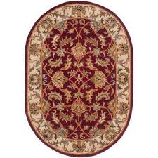 heritage red ivory 5 ft x 7 ft oval area rug