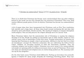 is christmas too commercialised gcse religious studies  document image preview
