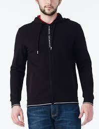armani exchange grosgrain hoo jacket fleece jacket for men a x