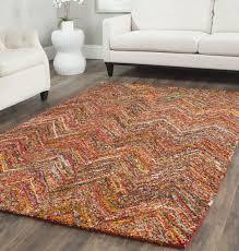 safavieh nantucket collection nan141b handmade abstract chevron multicolored cotton area rug 10u0027 x 14 10 rug h62