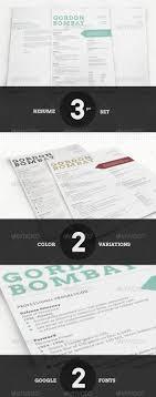 Modern Typographic Resume Set Modern Typographic Resume Set Pinterest Template Resume Cv And
