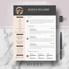 Modern Resume Template 2013 Home Hired Design Studio