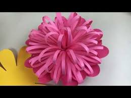 Paper Make Flower Learn How To Make A Spiky Center For A Giant Paper Flower