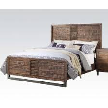 Andria Distressed Wood Bed Frame