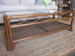 full size of rectangle brown rattan coffee table with glass top and four legs l wicker