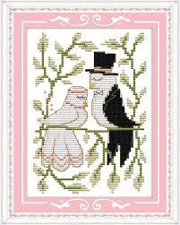 Wedding Cross Stitch Patterns Classy Diy Needlework Kits EmbroideryHome Decor Wedding Cross Stitch