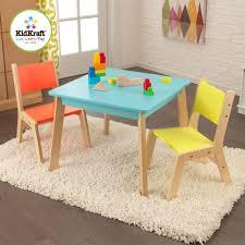 Table Set For Kids Kidkraft Modern Table And 2 Chair Set Highlighter Walmartcom