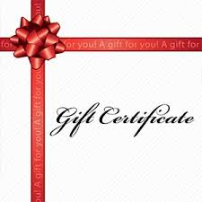 Gift Certificate Sign Gift Cards
